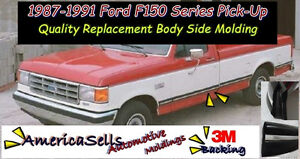 1987 1991 Ford F Series F150 F250 F350 Bronco Factory Body Side Molding