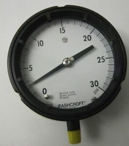 Ashcroft Duragague 0 30 Psi Gauge Pressure Gage