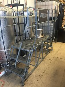 Cotterman Dual Access Steel Work Platform 32 Inch High 100 Inch Across
