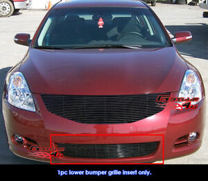 Fits 2010 2012 Nissan Altima Sedan Bumper Black Billet Grille