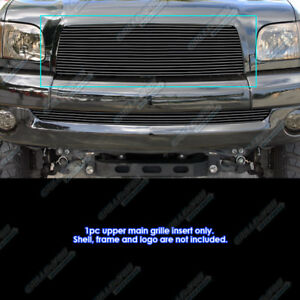 Fits 2003 2006 Toyota Tundra Black Upper Billet Grille Insert