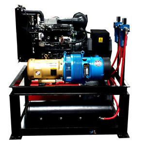 22 Kw 25 Cfm Spray Foam Rig Diesel Generator Compressor Air Dryer Combo Uni