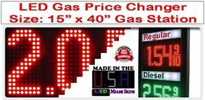 Led Gas Station Size 15 X 40 Fuel Price Digital Changer Led Display Usa