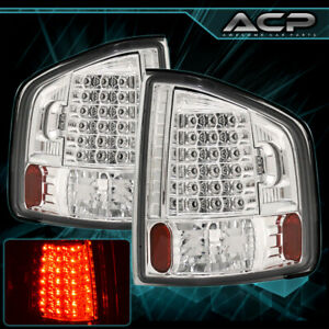1994 2004 Chevy Sonoma S10 Clear Lens Chrome Housing Led Rear Brake Tail Lights