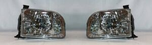 Right And Left Side Replacement Headlight Pair For 2001 2004 Toyota Sequoia