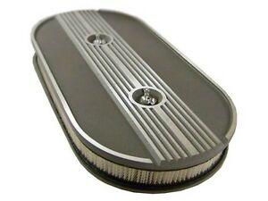 Ford Oval Air Cleaner Finned Alloy Shelby Gt 350 500 Eleanor Ac 289 428 Dual 2x4