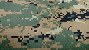 Headliner Woodlands Marpat Digital Camouflage Auto Camo Fabric 3 16 Foam Back