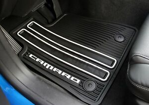 823412245 2016 Chevrolet Camaro Oem Front Rear Black Rubber Floor Mats New