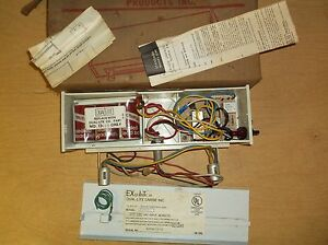 New Dual lite Model E ppw Carbide Exit Sign free Shipping