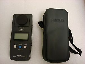 Hioki 3423 Lux Light Meter With Carrying Case Working Condition