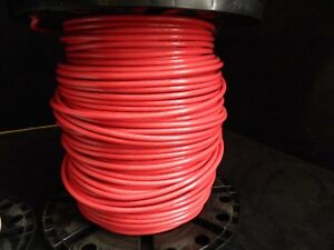 6 Gauge Thhn Wire Stranded Red 25 Ft Thwn 600v Copper Machine Cable Awg