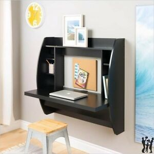 Prepac Floating Wall Black Computer Desk W Storage Computer
