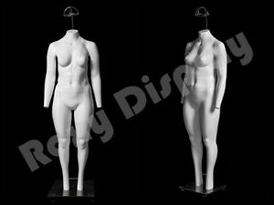 Fiberglass Female Plus Size Invisible Ghost Mannequin Dress Form Display Mz gh24