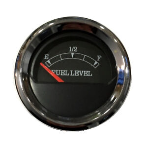 Fuel Level Gauge 2 52mm Black Chrome Blue Led 0 90 Ohms 043 F Bc 90