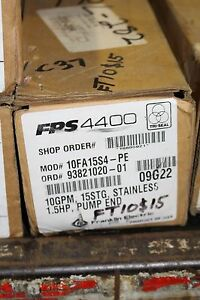 New Franklin Electric Pump End Fps4400 10fa15s4 pe