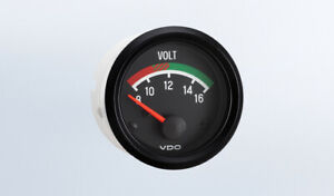 Vdo Gauge Voltmeter Genuine Cockpit 332 041 2 52mm Spin Loc W Harness