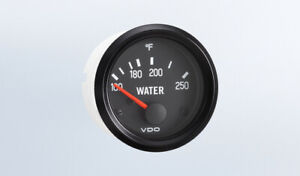 Vdo Gauge Temp 250f Genuine Cockpit 310 039 2 52mm Spin loc W wire Harness