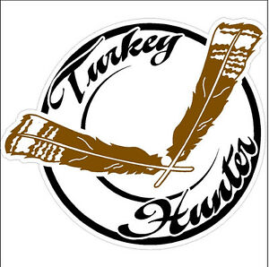 Turkey Hunter Hunting Decal Sticker