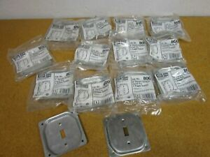 Hubbell Raco 800 4 Square Surface Cover 1 Toggle Switch Raised 1 2 lot Of 14
