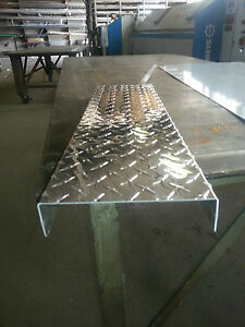 063 Aluminum Diamond Plate Channel 1 X 4 X 1 X 96