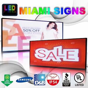 Full Color Led Sign 19 X 75 Double Sided 10mm Programmable Message Outdoor P10