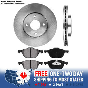 Front Brake Rotors And Metallic Pads 2005 2006 2007 Ford Focus