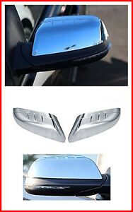 For 2011 2014 Ford Edge Chrome Door Rear View Top Half Mirror Cover Set Pair