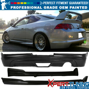 Fit Acura Rsx 02 06 Pu Mugen Style Rear Bumper Lip Spoiler Side Skirt