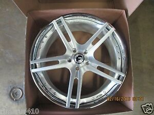 22 Forgiato Pianura Ecl Concave 3 piece Wheels Corvette C7 Stingray