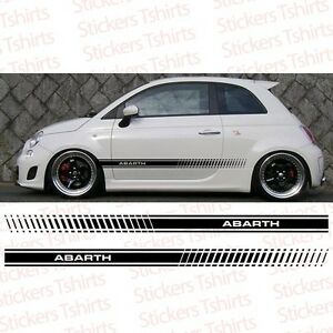 Set Fiat Abarth 500 2011 And Up Racing Stripe Car Decal Vinyl Sticker Stripes