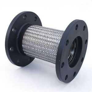Flexible Stainless Steel Braided Pipe Hose Flange 3 Id X 8 5 8 Long