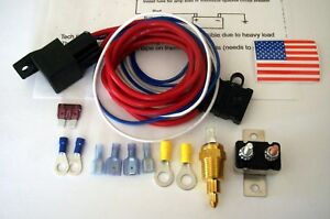 Electric Fan Relay Install Kit 60 Amp 170 185 Deg Thermostat Instructions Usa