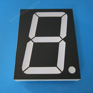 2pcs 5 Inch 1 Digit Led Display 7 Seg Segment Common Anode White 5