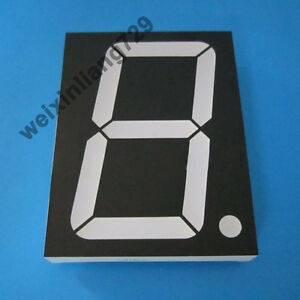 2pcs 4 Inch 1 Digit Led Display 7 Seg Segment Common Anode Blue 4