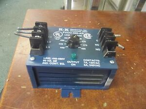 R k Electronics 3 phase Voltage Protection Relay Pvco 400 ar Used
