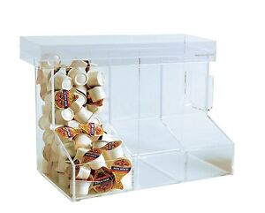 3 Bin Coffee Condiment Organizer Clear Acrylic Coffee Caddy For Breakrooms