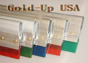 6 Screen Printing Squeegee aluminum Handle With 65 Duro Blade