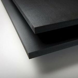Black Sintra Pvc Foam Board Plastic Sheets 6mm 24 X 48