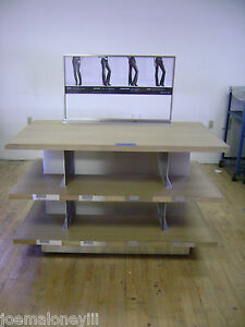 3 Tier Shelf Merchandiser Jeans Display Table Retail Display Shelving Unit