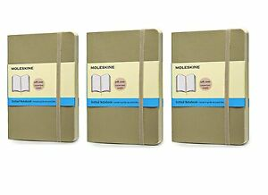 Pack Of 3 Moleskine Classic Colored Notebook Pocket Dotted Khaki B