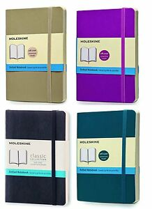 Pack Of 4 Moleskine Classic Notebook Pocket Dotted soft Cover 3 5 X 5 5