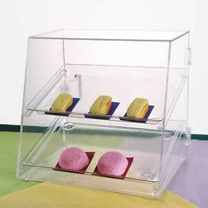 Two Tray Food Case Acrylic Pastry donut bakery Display 2 Sizes Free Ship