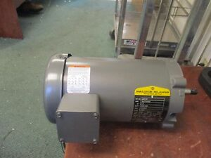 Baldor Ac Motor Jm3120 1 5hp 3450rpm 230 460v 4 4 2 2a New Surplus