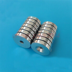 Wholesale 25 X 5 Hole 5mm N50 Round Countersunk Rare Earth Neodymium Magnets