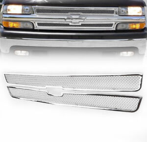 Chevy 1999 02 Silverado 2000 Suburban Tahoe Front Upper Mesh Grille Grill Insert
