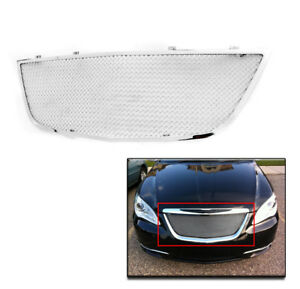 2011 2014 Chrysler 200 Chrome Main Upper Mesh Grille Stainless Steel Insert