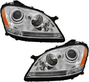 New Headlights Assembly W bulb Set Pair For 06 07 Mercedes Ml320 Ml350 Ml500