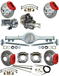 New Suspension Wilwood Brake Set currie Rear End posi Gear booster 707812 red