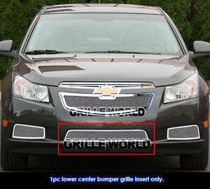 Ss 1 8mm Mesh Grille For 2011 2012 Chevy Cruze Bumper