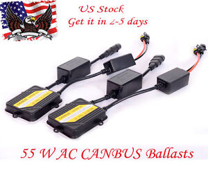 2x Ac 12v Pro Canbus Hid Xenon Ballast 55w Replacement Error Warning Canceller